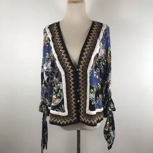 Free People Catch Me if You Can Tie Sleeve Top
